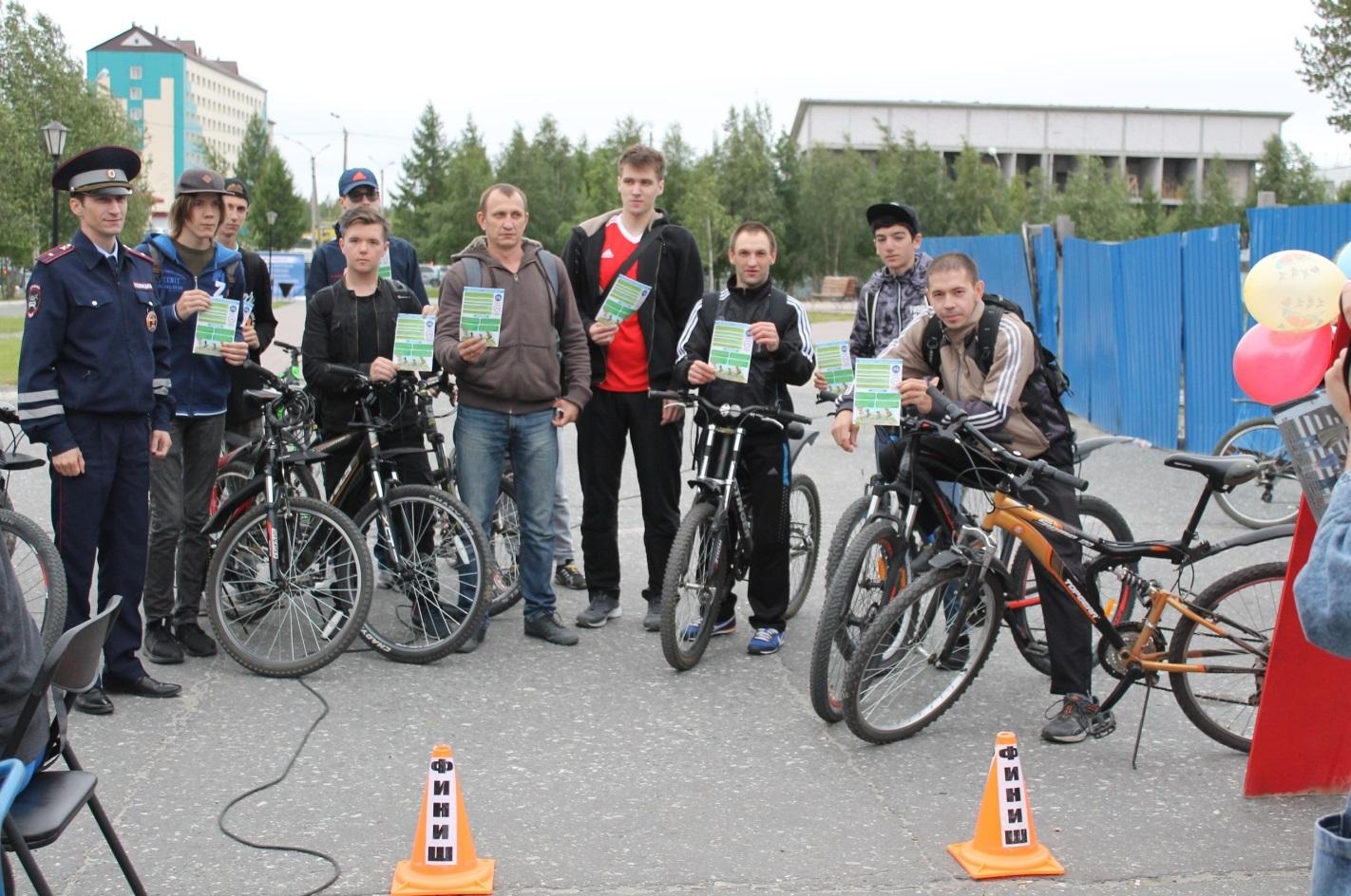 Велотур прошёл в Ноябрьске