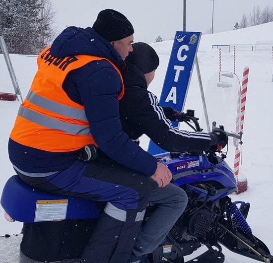 Соревнования на снегоходах
